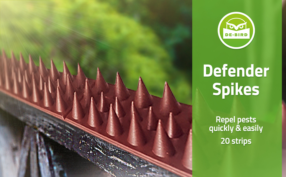 2PcFence Wall Spike Pack Bird Pigeon Repeller Deterrant Window Defender Security