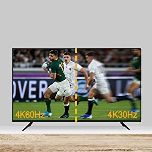 Unlike the other 4K30Hz devices, the 4K60Hz resolution provides much better dynamic motion visual