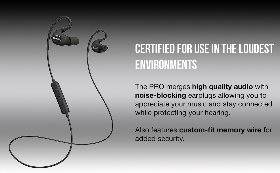 isotunes pro certified bluetooth hearing protection work durable noise cancelling block noise sound