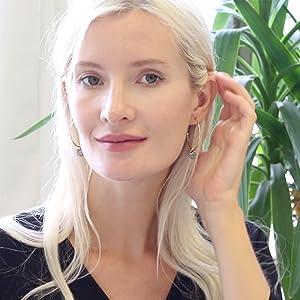 Simulated Druzy Hoop Earrings