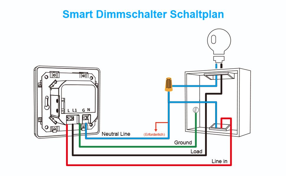 WLAN Dimmer Schakelaar Dimbare Schakelaar Smart Lichtschakelaar LED Dimbare Lichtschakelaar Smart Schakelaar