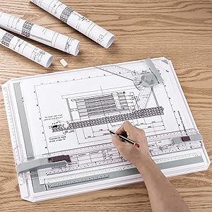 Profi Schnell Zeichenplatte A3 Zeichenbrett Zeichentisch Arbeiten Board Neu DE