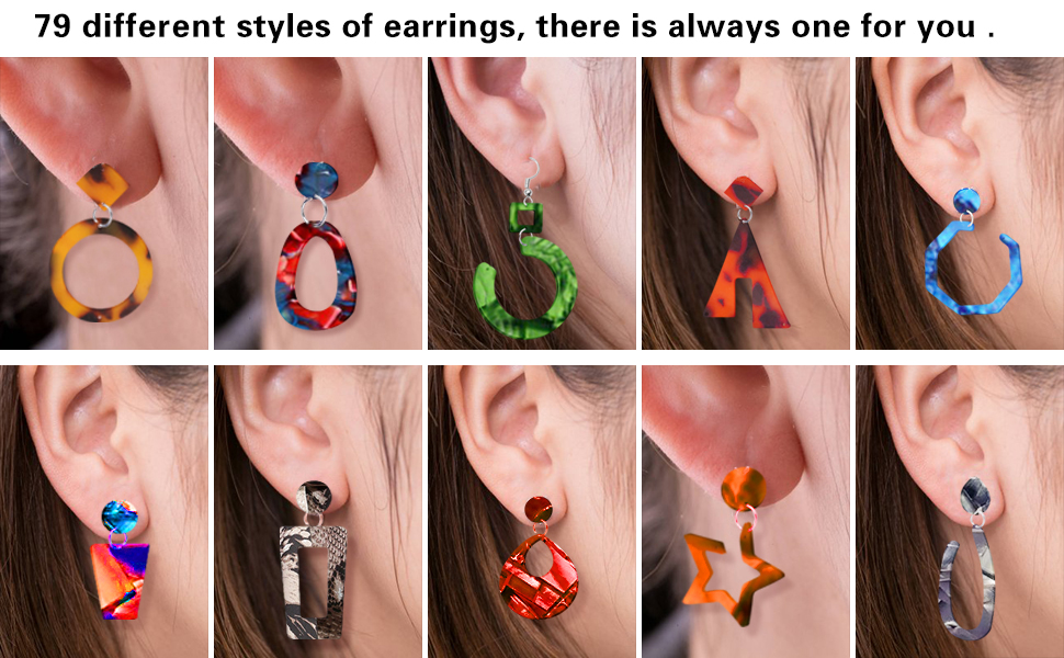 ORMAN 6 Pcs Earrings Silicone Resin Molds Bohemian Drop Dangle Earring Epoxy Resin Molds with 2 Sets of Earrings Accessory Kits Fashion Jewelry Casting Molds for Women Girls