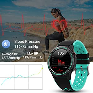 smart watch with blood pressure
