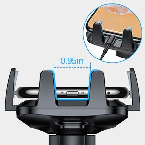 iPhone X coche cargador de coche soporte para ventilación de aire iPhone X coche soporte de teléfono para rejilla de ventilación del coche