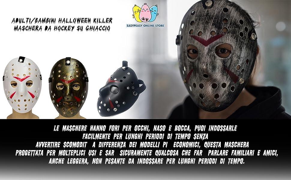 maschera bocca in plastica