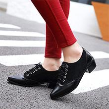 black block heel oxfords for women