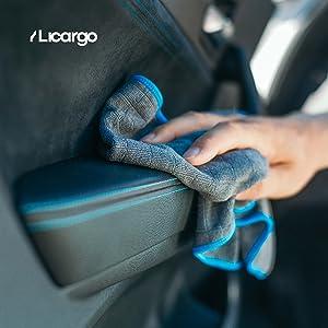 Car interior care with LICARGO 380 GSM microfibre cloth