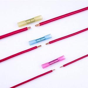 12 10 14 16 18 20 22 gauge heat shrink butt wire connectors