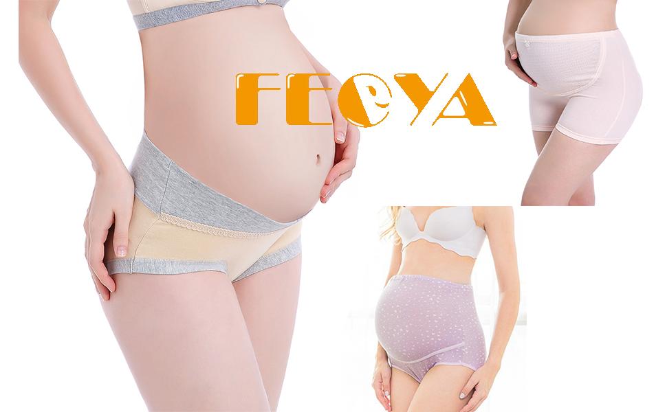 FEOYA Mujer Bragas Maternidad Algodón para Embarazadas Calzoncillo ...