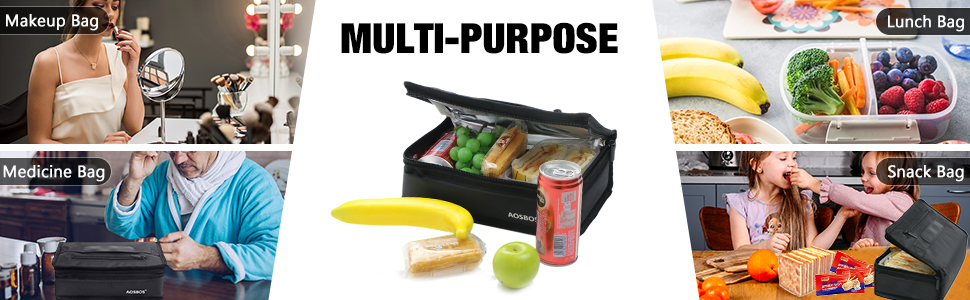 insulated small lunch bag