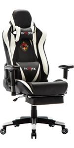Ficmax white gaming chair