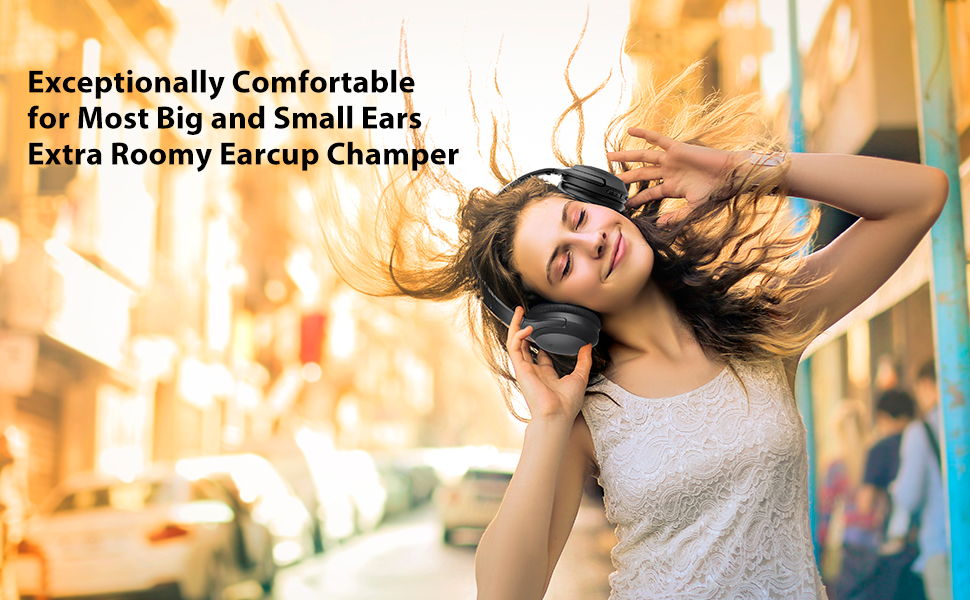 comfortable noise cancelling headphones for big and small ears