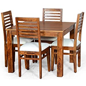 wooden 4 seater dining table for home office solid sheesham wood furniture dinner tables SPN-JGS