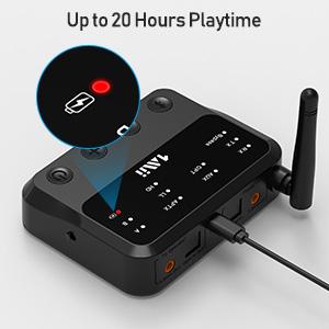 Liyeehao Receptor port/átil transmisor Bluetooth 2 en 1 Estable Adaptador de Audio Bluetooth Mini Altavoz para autom/óvil para Altavoz Bluetooth para computadora para proyector de TV