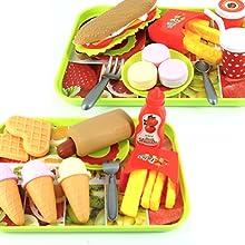 Toy food set burger toy
