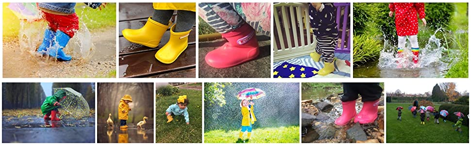 toddler rain boots kids boots play boots baby rain boots Muddy camping wetlands Puddle Creek