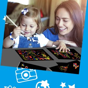make scratch art with family