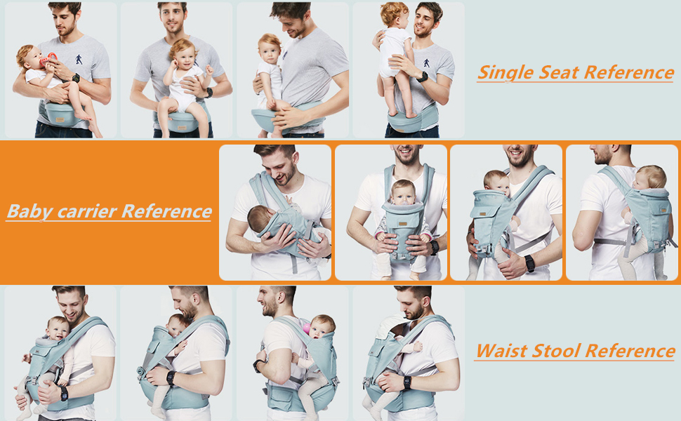 GLISOO Baby Carrier Use Reference