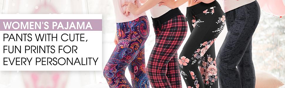 pj pants women cat wine soft plus size sleepwear pyjamas loungewear champagne floral flannel plaid