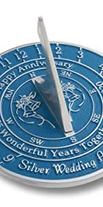 Silver anniversary sundial