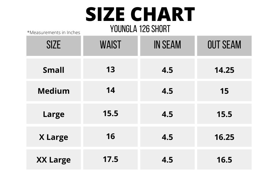 126 Size Chart