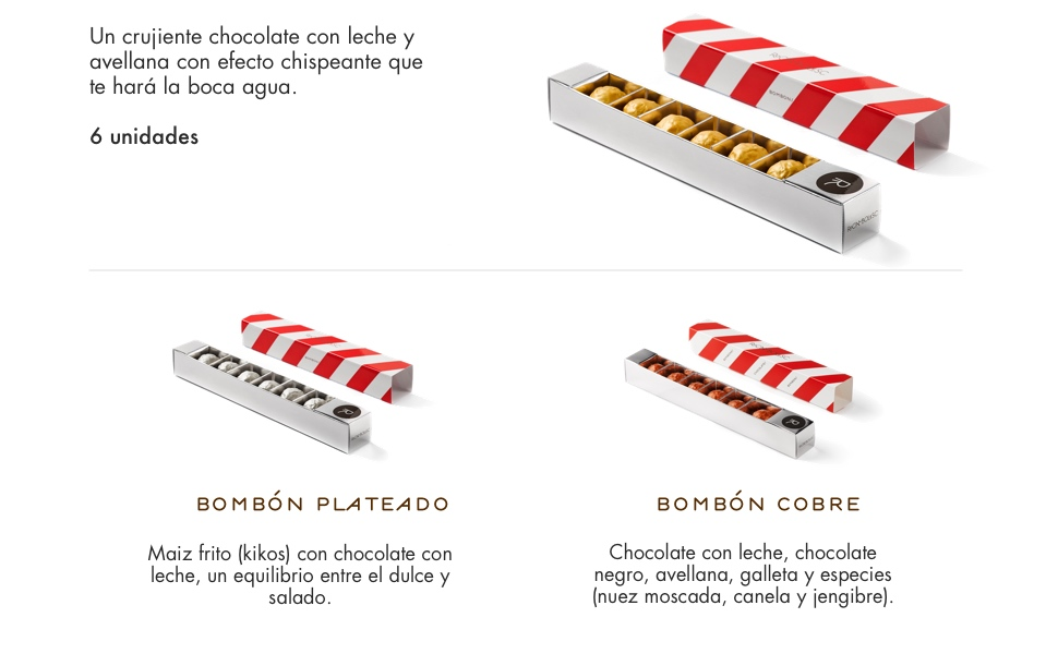 Rocambolesc - Bombón Dorado de Avellanas, Chocolate con Leche y ...