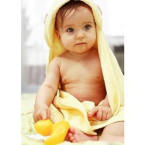 Perfektes Baby Starterset. Babyhandtuch mit Kapuze Babypflegeset Neugeborene Babybadewanne Baby Badesitz Waschlappen