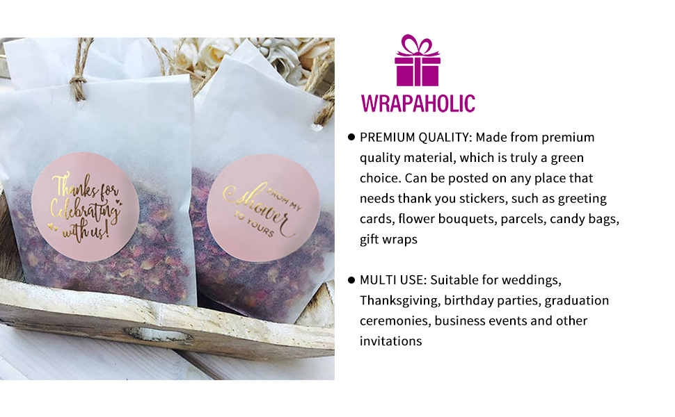 WRAPAHOLIC Thank You Gift Stickers