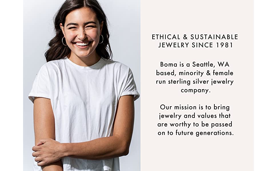 Boma Jewelry Sterling Silver Ethical amp; Sustainable Jewelry founded in Seattle Washington in 1981