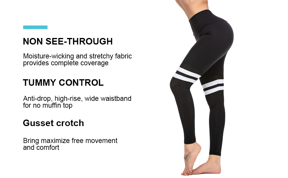 "Women's 28"" high waisted yoga leggings"