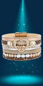 graduation gifts Leather Wrap Around bracelet