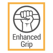 ENHANCED GRIP WITH SILICONE DOTS