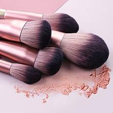 Brochas de Maquillaje, Abody 16 Piezas de Pinceles Maquillaje de Fibra Sintética para Las Cejas, Sombra de Ojos, Base de Maquillaje, Polvos, Crema, con Bolsa Negra: Amazon.es: Belleza