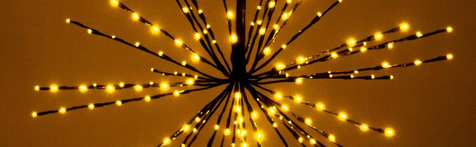 starflower lights, elf logic, outdoor christmas decorations, xmas decor