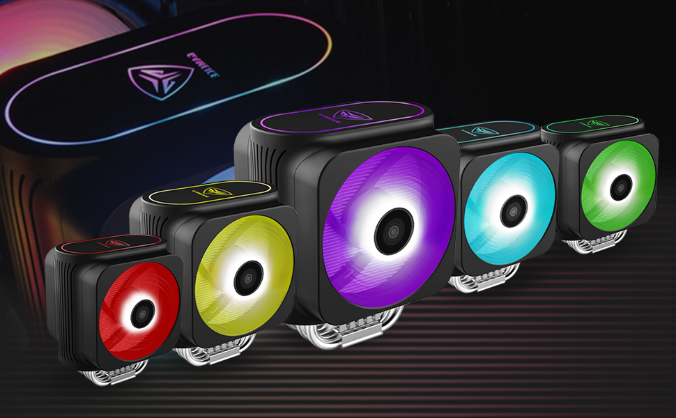 colorful RGB fans for computer case