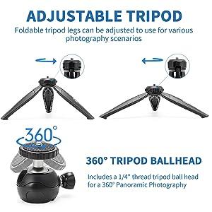 camera tripod ballhead vlogging kit