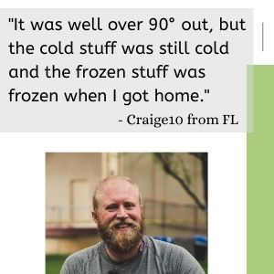 insulated stays cold