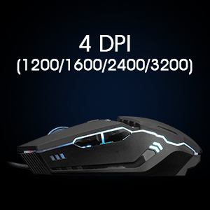 Adjustable 4 DPI Wired Gaming mice