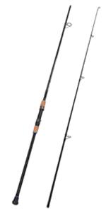 2-Piece Surf Spinning/Casting Fishing Rod Carbon Fiber Travel Fishing Rod