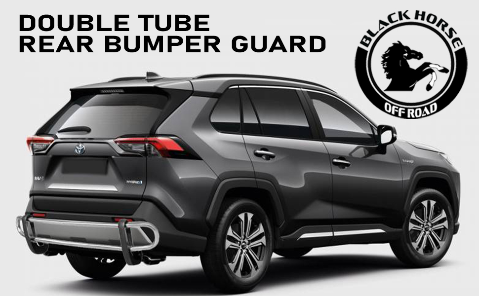 Black Horse Off Road Double Tube Rear Bumper Guard
