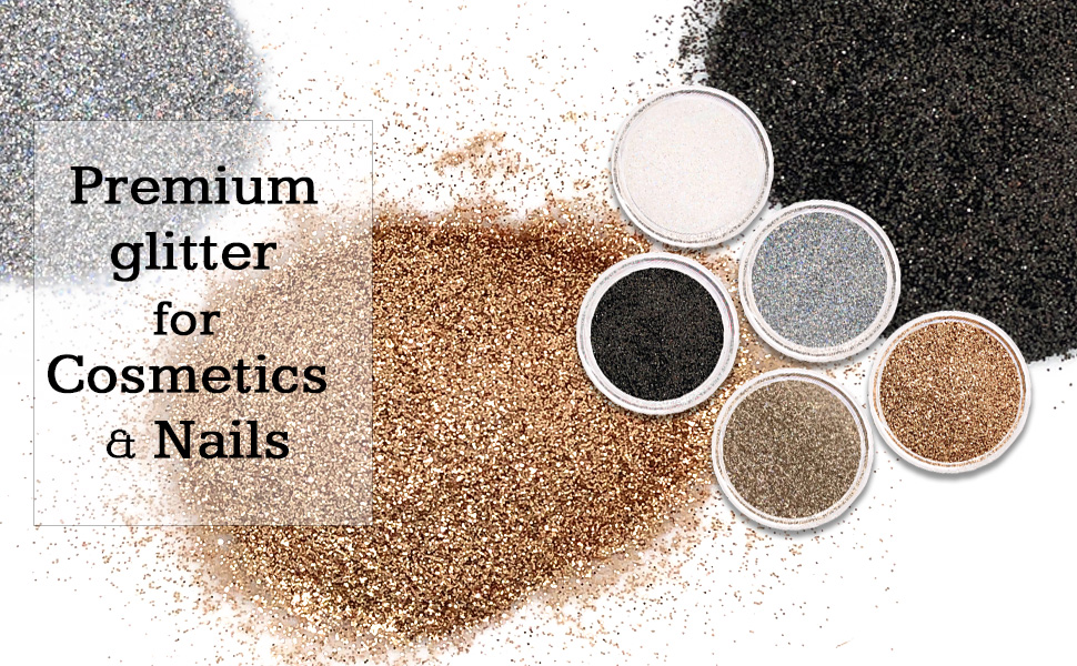 Glitties Professional grade cosmetic loose glitter safe for body face eyes brows lips nails hair