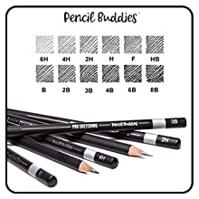 WIDE RANGE FOR SOFT AND RICH TONES: A wide variety of hardness for all your artwork needs.