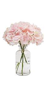 artificial hydrangea pink