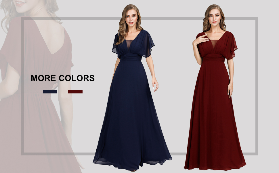 chiiffon evening dresses for women