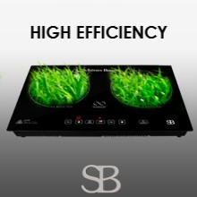 induction cooktop, double induction, built-in, induction, 2 burner, double zone, countertop cooktop