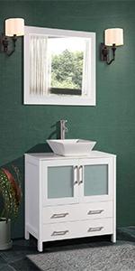single sink bathroom vanity storage cabinet quartz top ceramic vessel sink cabinet