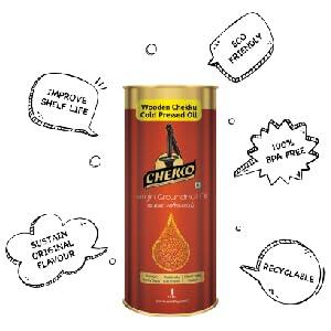 Virgin Castor Oil is Tin Packaged