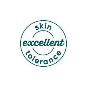 excellent skin tolerance