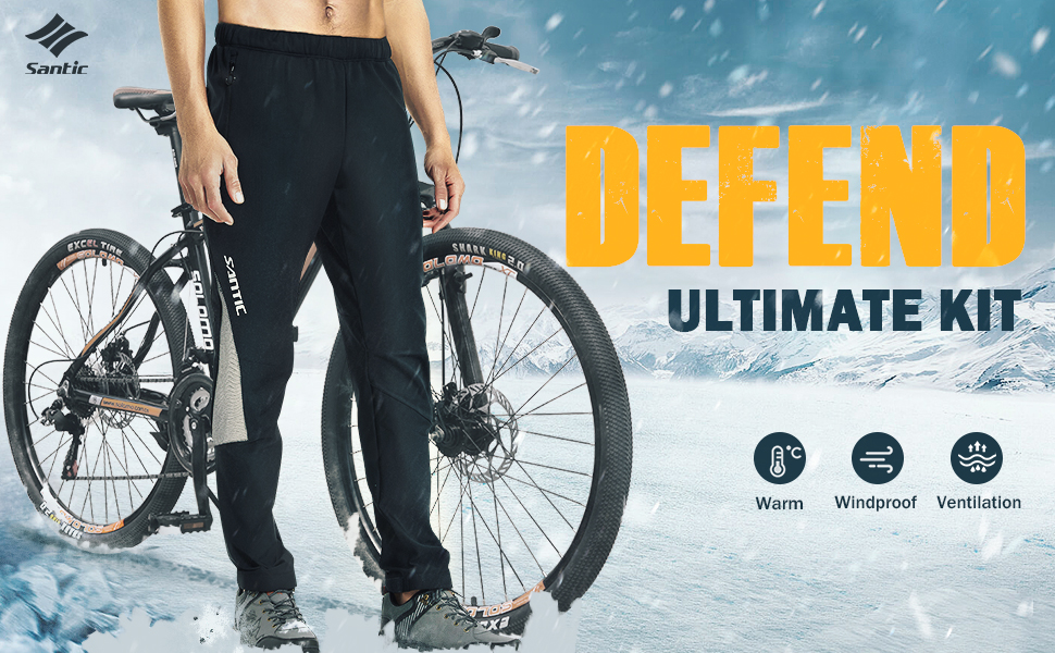 Amazon Com Santic Cycling Pants Mens Bike Winter Fleece Thermal Athletic Pants Loose Fit Windproof Running Hiking Outdoor Sport Trousers Clothing